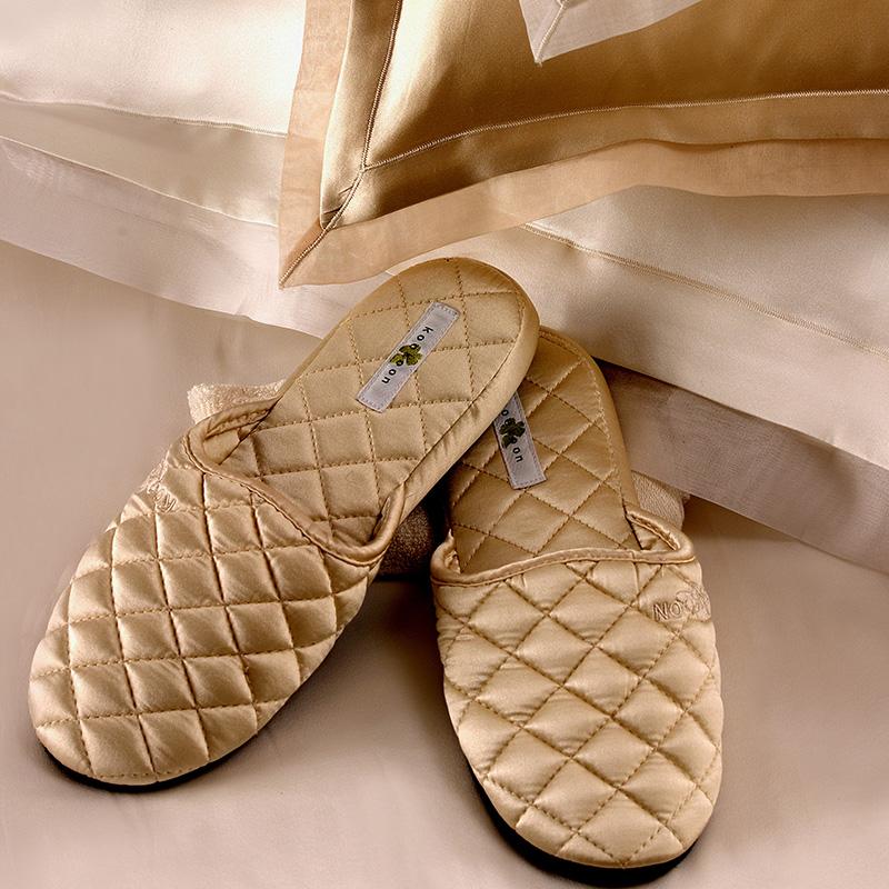 Quilted Silk Slippers Kumi Kookoon